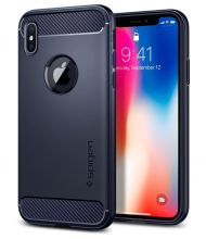 ETUI SPIGEN RUGGED ARMOR IPHONE X/10 MIDNIGHT BLUE