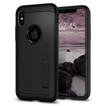 ETUI SPIGEN SLIM ARMOR IPHONE X/10 JET BLACK