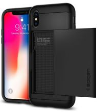 ETUI SPIGEN SLIM ARMOR CS IPHONE X/10 JET BLACK