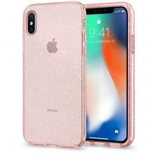ETUI SPIGEN LIQUID CRYSTAL IPHONE X/10 GLITTER ROSE