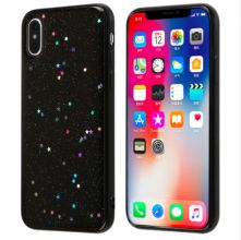 ETUI CASSY GLITTER STARS IPHONE X/10 BLACK