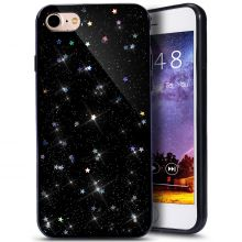 ETUI CASSY GLITTER STARS IPHONE 7/8 BLACK