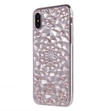 ETUI CASSY DIAMOND IPHONE X/10 CRYSTAL PINK