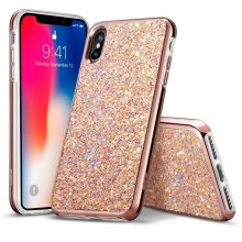 ETUI ESR SPARKLY SEQUINS IPHONE X/10 ROSE GOLD