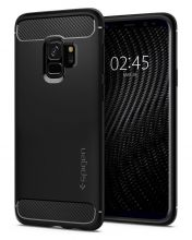 ETUI SPIGEN RUGGED ARMOR GALAXY S9 MATTE BLACK